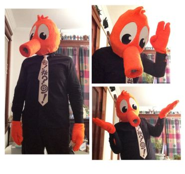 Q*bert costume by RuF2000