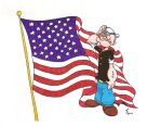 Popeye Patriotic 3 by zombiegoon