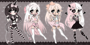 Chibi Mix Adoptables 14 :: CLOSED :: by Hunibi