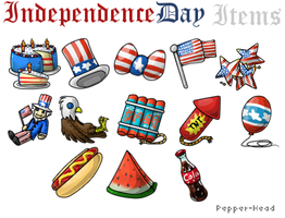 Independence Day Items by Pepper-Head