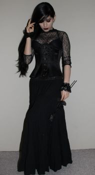 Stock - Gothic - The Black Rose by Mahafsoun