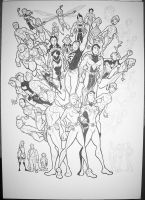 Legion Of Superheroes WIP 5 by BevisMusson