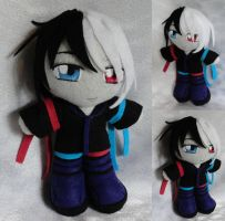 Commission, Mini Plushie Alan Blackheart by ThePlushieLady