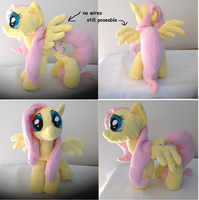 Fluttershy plushie, and YOURE GOING TO LOVE HER by BlueAcrylicFox