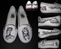 Disney Tangled Shoes by daphnetails