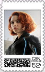 Black Widow Postage Stamp by WOLFBLADE111