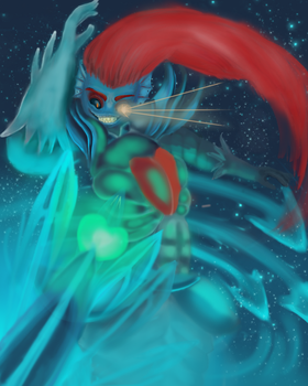 Undyne the Undying. by Sweet-Illness