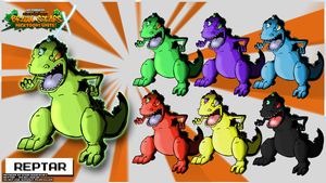Nicktoons - Reptar (Palette Swaps) by NewEraOutlaw