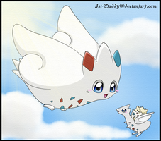 Togepi,Togetic and Togekiss by Isi-Daddy