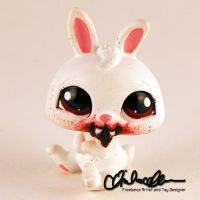 Littlest Rabbit of Caerbannog- custom LPS by thatg33kgirl