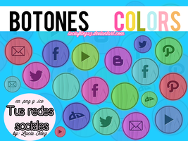Botones Colors By Lucia Fdez by luciafdez23