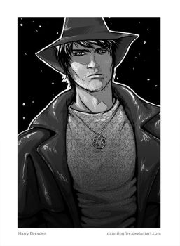 Harry Dresden by dauntingfire