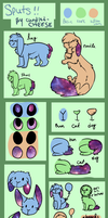 Sput Ref Sheet (Closed Species! Open Customs!) by mosspaws