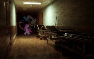 Creepy Hospital - Pinkie Pie and Discord by normanb88