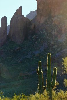 Sunrise in the Superstition Mtns. by finhead4ever