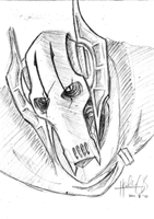 General Grievous sketch 2 by theREDspy
