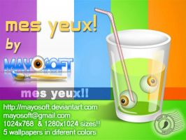 Mes yeux- wallpapers by Mayosoft