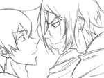 Free! Rin x Haru (Sharkbait) Makeout Animation by JustMeBeingADork