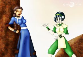 Toph Rocks Katara's World by PrinceJupiter