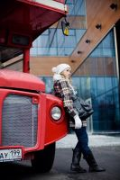 Viktoria and Red Bus by Lucem