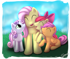 Auntie Fluttershy by Shema-the-lioness