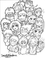 Naruto Chibis: Attaaack XD by Danni-Stone