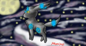 Dark Shiny Umbreon by HigginstheAwesome