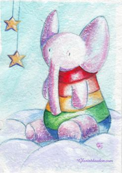 Little elephant -Elefantito by Gloria-T-Dauden