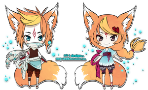 Chibi twin adoptable set04 [CLOSED] by Meg-Sowka