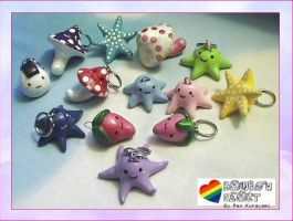Rainbow Heart Charms by RKdesign1314