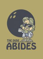 The Dude T-shirt Print by Twoheaded-Dawg