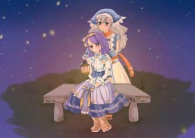 Harvest moon-a cloudless night by Sword-of-Orion-Mirii