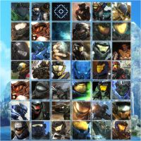100 Avatars Halo Reach by SkyCrawlers