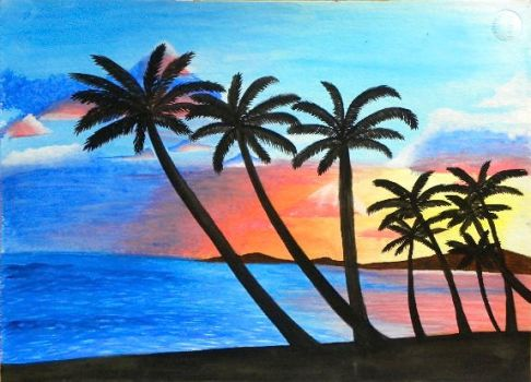 Tropical Sunset by jchild26