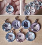 Doggy Pendants by creaturekebab