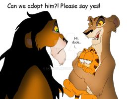 Garfield X LionKing by Savu0211
