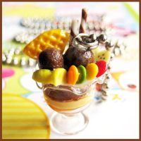 Chocolate Parfait Necklace 2 by cherryboop