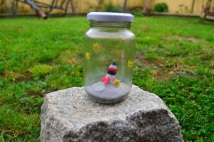 A piece of Moon in a jar by CraftDragons