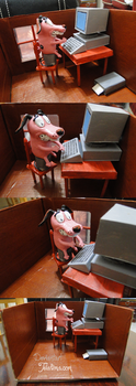 Courage the cowardly dog -Computer by teialima