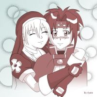 Chrono and Rosette 2nd time xP by ayako-chibi-chan