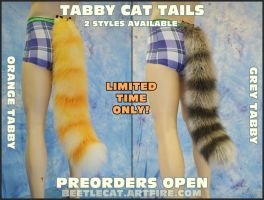Tabby Cat tails available for a limited time by Beetlecat