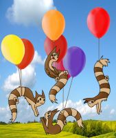 Furret's in the air by Izoka