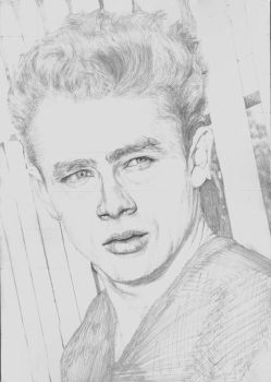 James Dean Rebel without a Cause SKETCH by Yankeestyle94