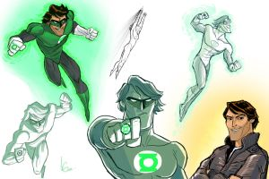 Green Lantern sketches by Javi-80
