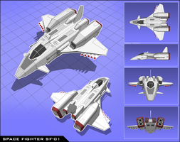 Space Fighter SF-01 by vpRaptor