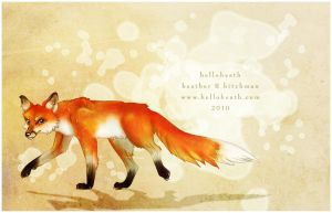 Orange Fox is Orange by HeatherHitchman
