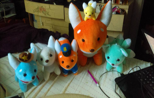 Fox Plushies by LifeLoveAndDarkness