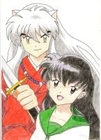 InuYasha and Kagome by Aethernie