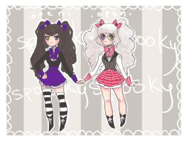 adoptables - cookie and cream - c l o s e d by Spooktastical
