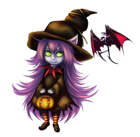 Lulu in Halloween outfit by Ish-t393